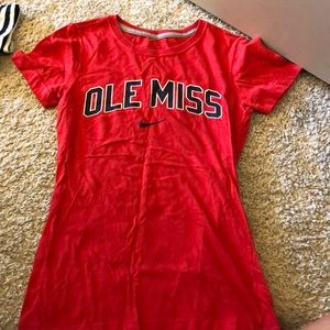 ole miss fitted t-shirt